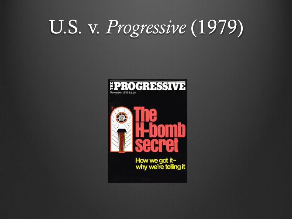 U.S. v. Progressive (1979)