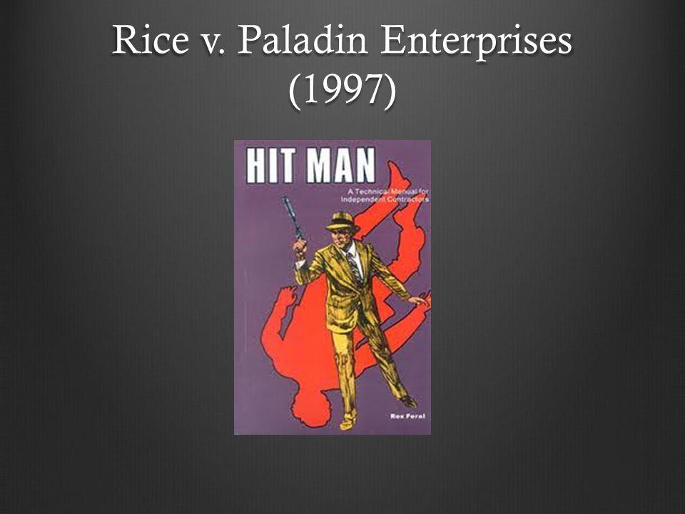 Rice v. Paladin Enterprises (1997)