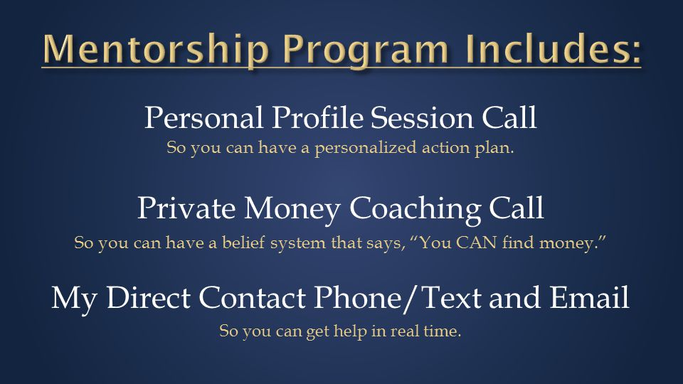 Personal Profile Session Call So you can have a personalized action plan.