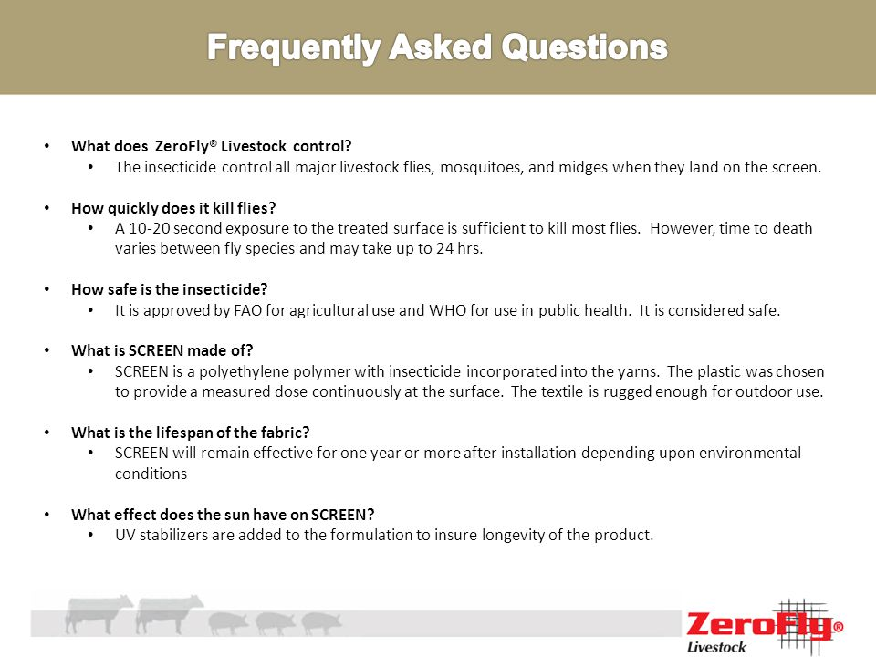 What does ZeroFly® Livestock control.