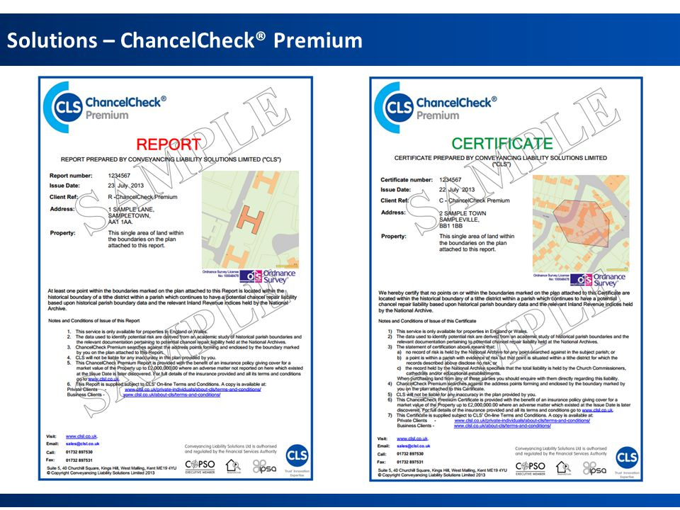 Solutions – ChancelCheck® Premium