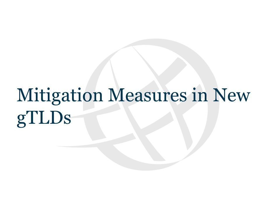 Text Mitigation Measures in New gTLDs