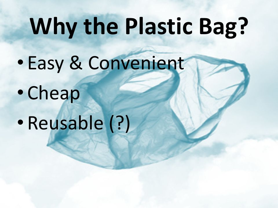 Why the Plastic Bag? Easy & Convenient Cheap Reusable (?)