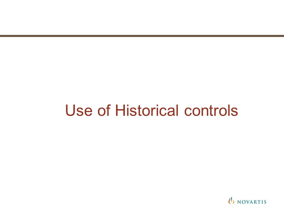 Use of Historical controls