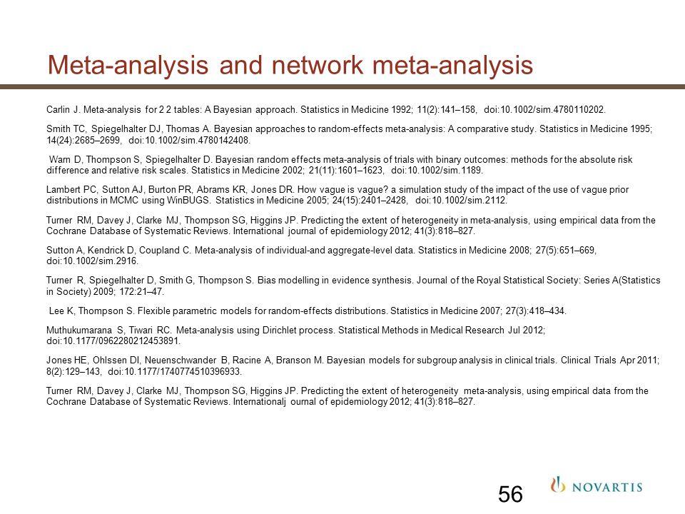 Meta-analysis and network meta-analysis Carlin J.