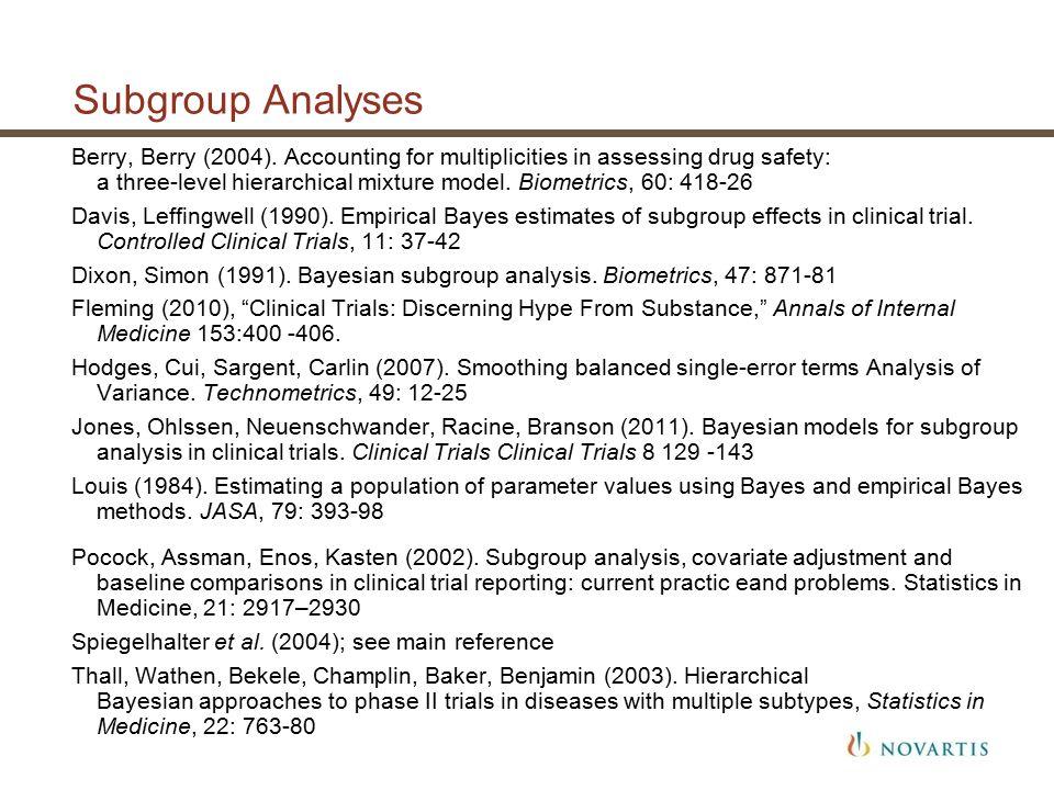 Subgroup Analyses Berry, Berry (2004).