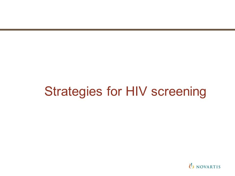 Strategies for HIV screening
