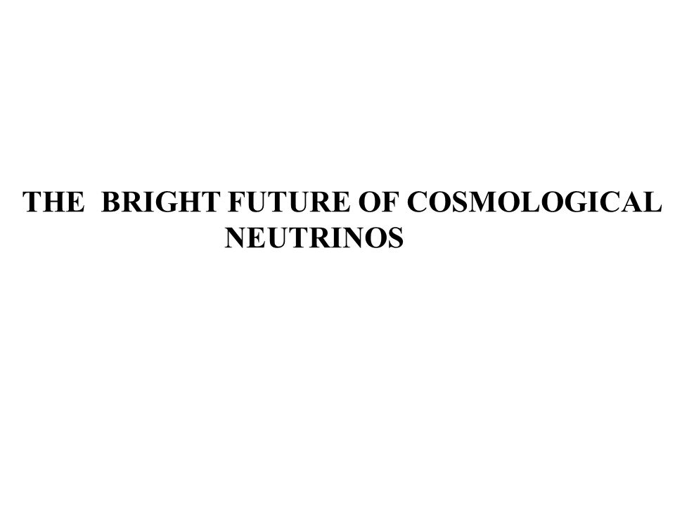 THE BRIGHT FUTURE OF COSMOLOGICAL NEUTRINOS