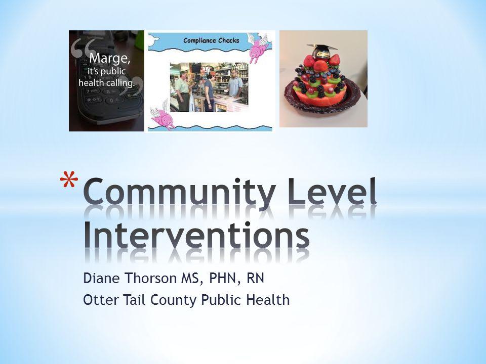 * Community facilitates documentation and analysis of population- focused interventions, p 26.