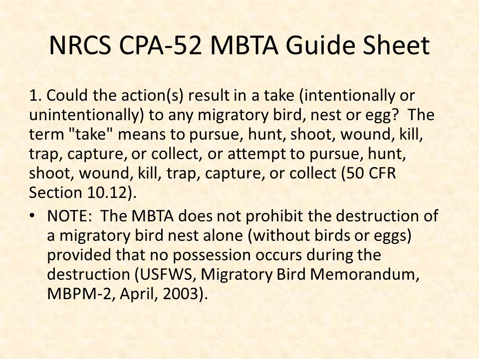 NRCS CPA-52 MBTA Guide Sheet 1.
