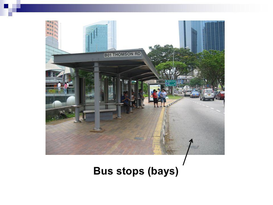 Bus stops (bays)