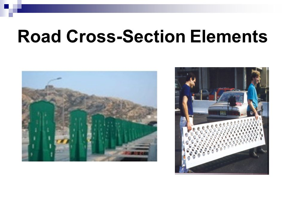 Road Cross-Section Elements