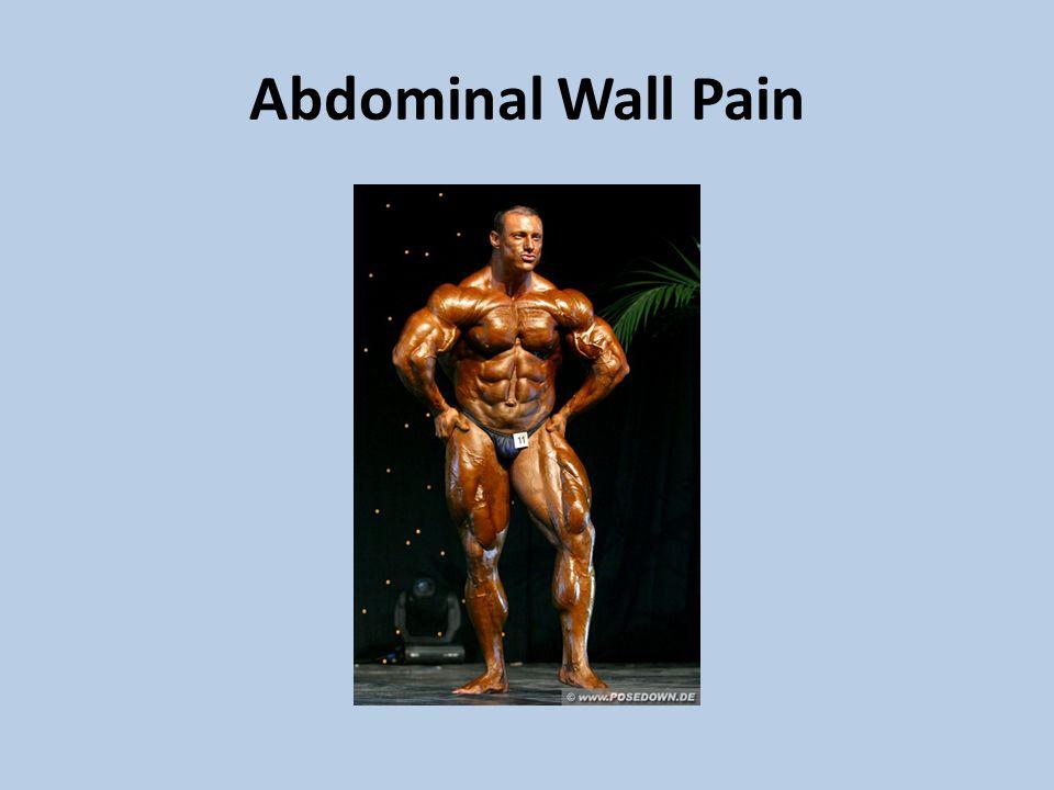 Abdominal Wall Pain