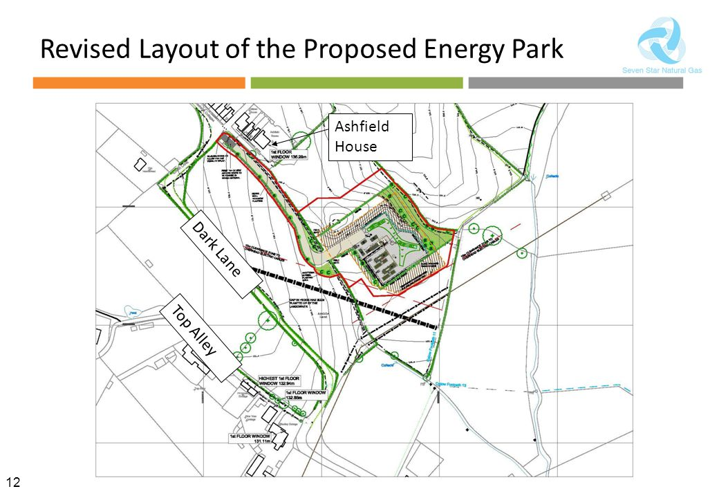 12 Revised Layout of the Proposed Energy Park Ashfield House Top Alley Dark Lane