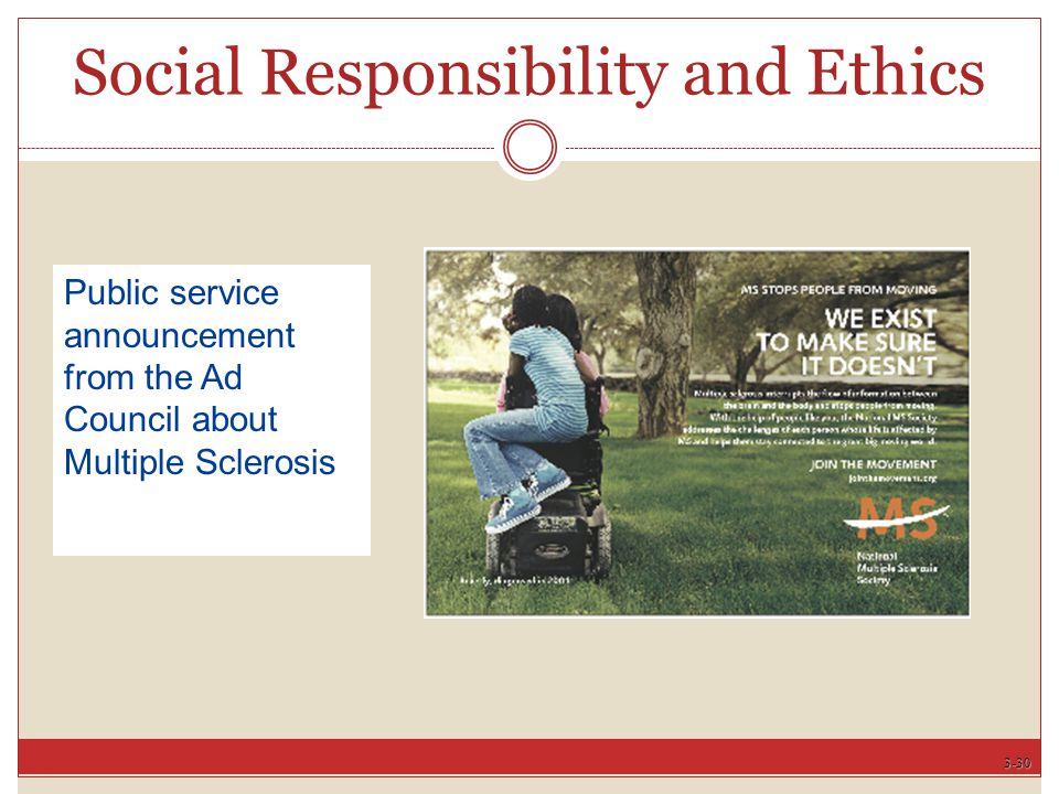 3-30 Social Responsibility and Ethics Public service announcement from the Ad Council about Multiple Sclerosis