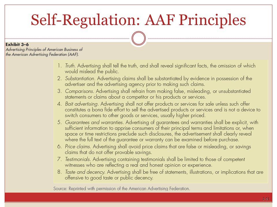 3-51 Self-Regulation: AAF Principles