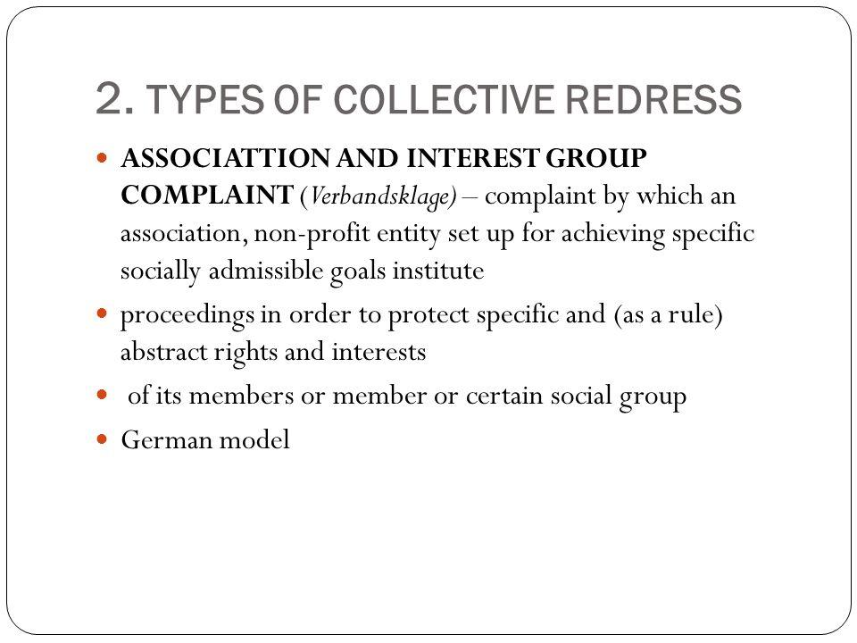 2.TYPES OF COLLECTIVE REDRESS II ACTIO POPULARIS Art.