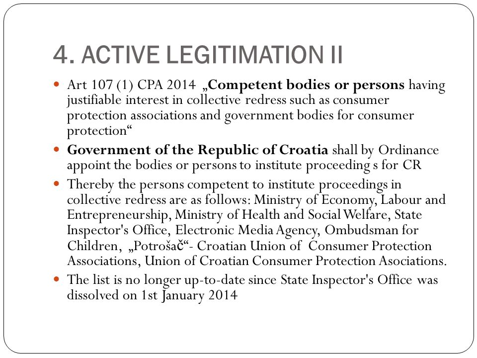 6.OPT-OUT OR OPT-IN Croatia has chosen the association and interest groups action.