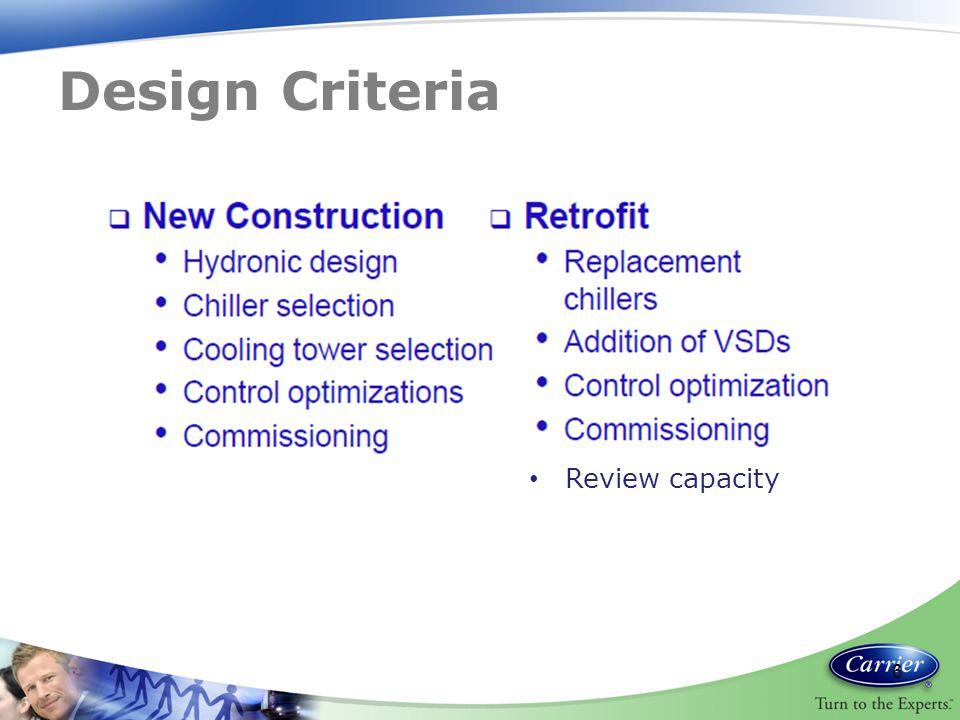 Design Criteria 6 Review capacity