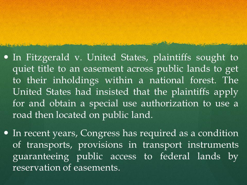 In Fitzgerald v.