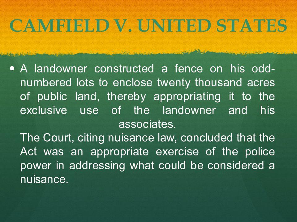 CAMFIELD V.