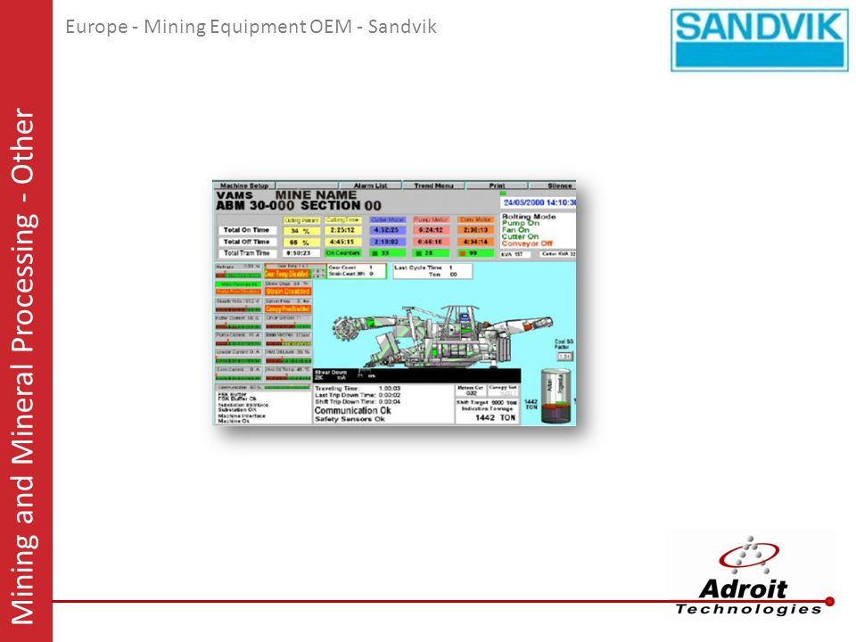 Europe - Mining Equipment OEM - Sandvik Mining and Mineral Processing - Other
