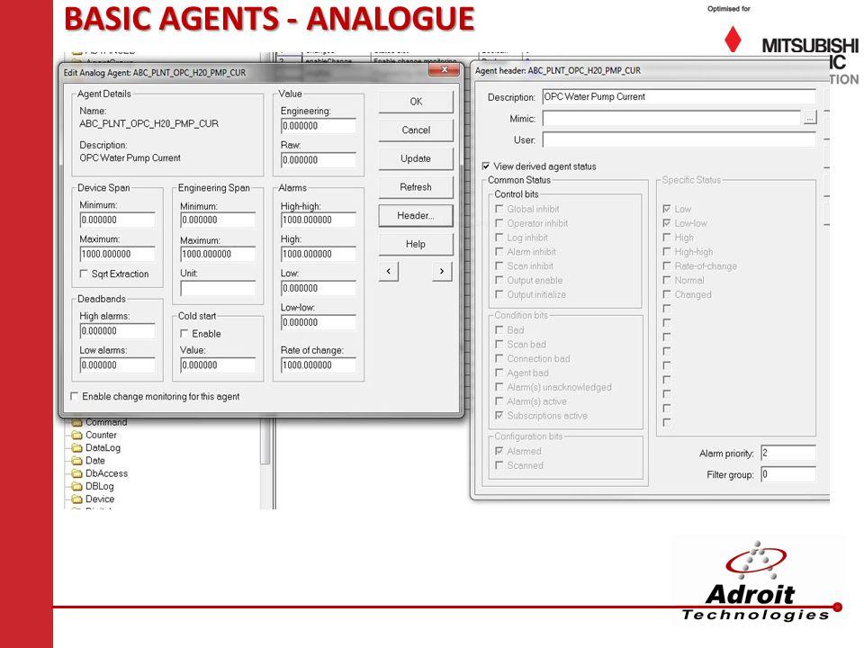BASIC AGENTS - ANALOGUE