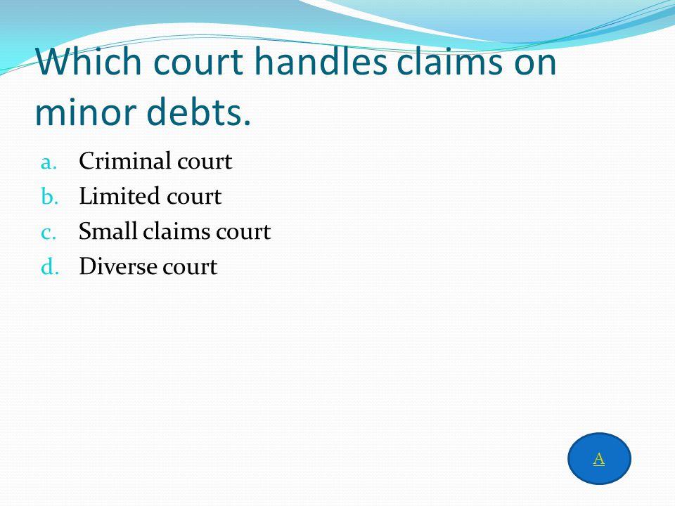 Answer to column 4 for 500 c. Original jurisdiction