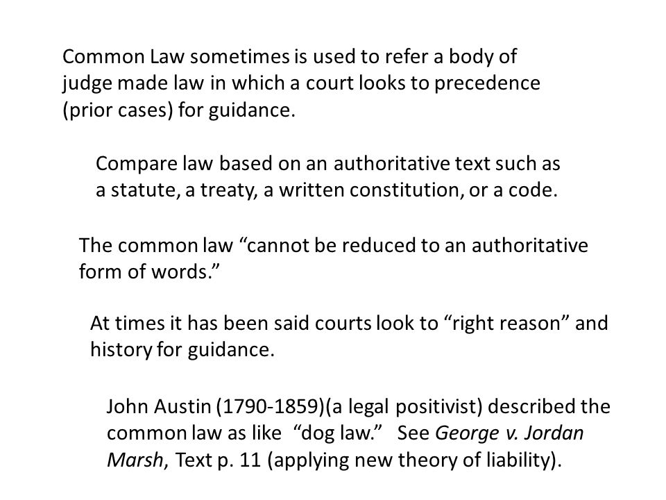 History of the common law Until the early 19 th century, a writ system. Blackstone's Commentaries (1765-1769) The first English language Contracts treatise was published in 1807.