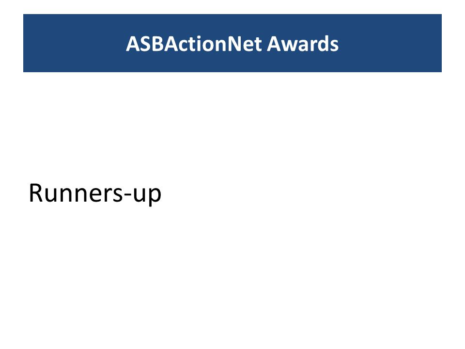 Runners-up ASBActionNet Awards
