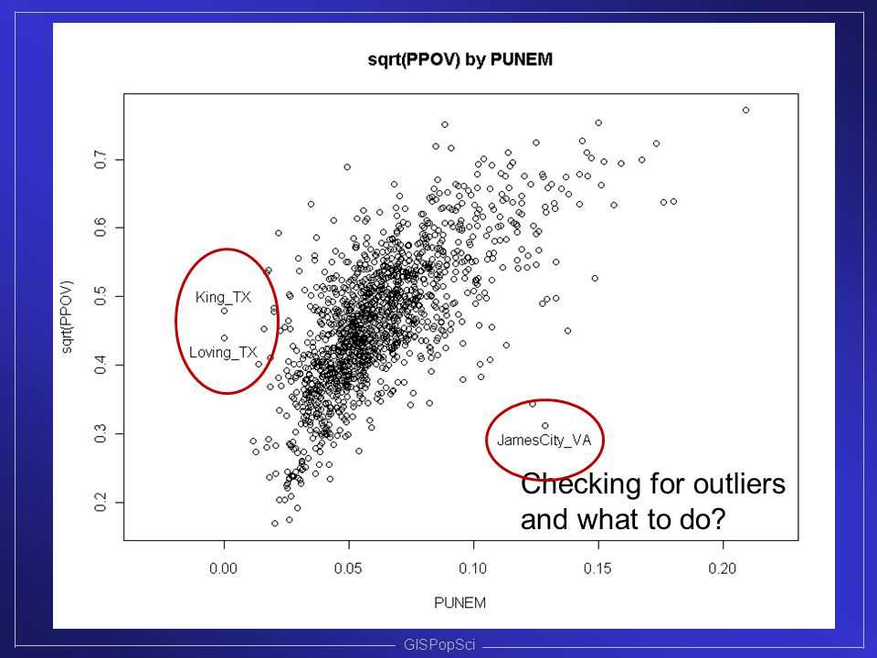 GISPopSci Checking for outliers and what to do?