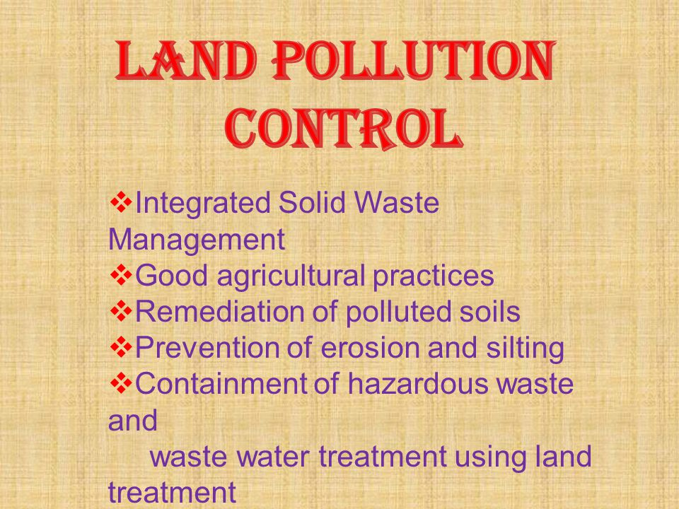 IIntegrated Solid Waste Management GGood agricultural practices RRemediation of polluted soils PPrevention of erosion and silting CContainme