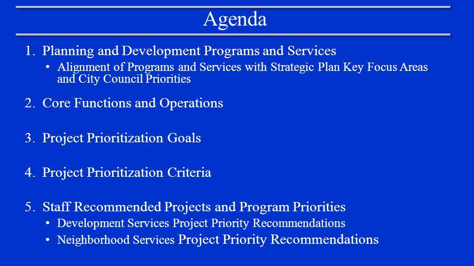Planning and Development Organizational Chart