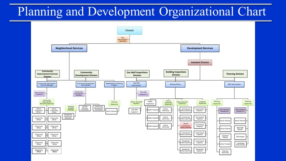 Planning and Development Organizational Chart
