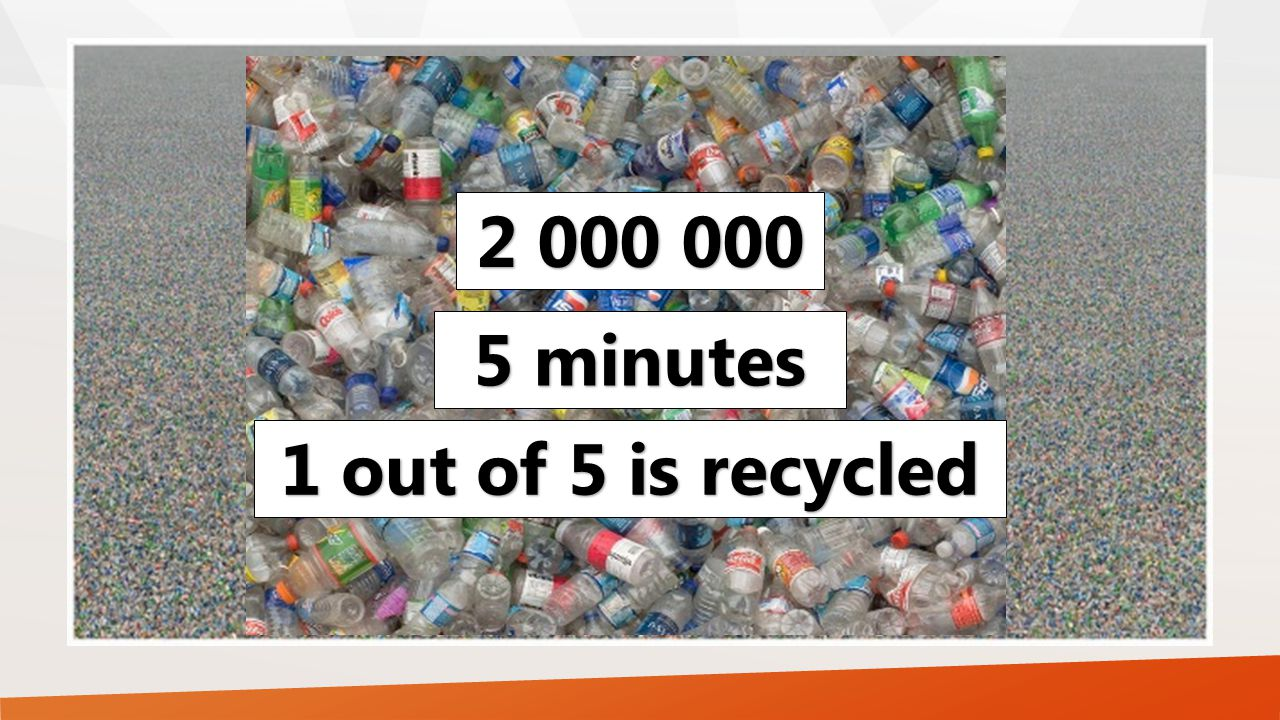2 000 000 1 out of 5 is recycled 5 minutes