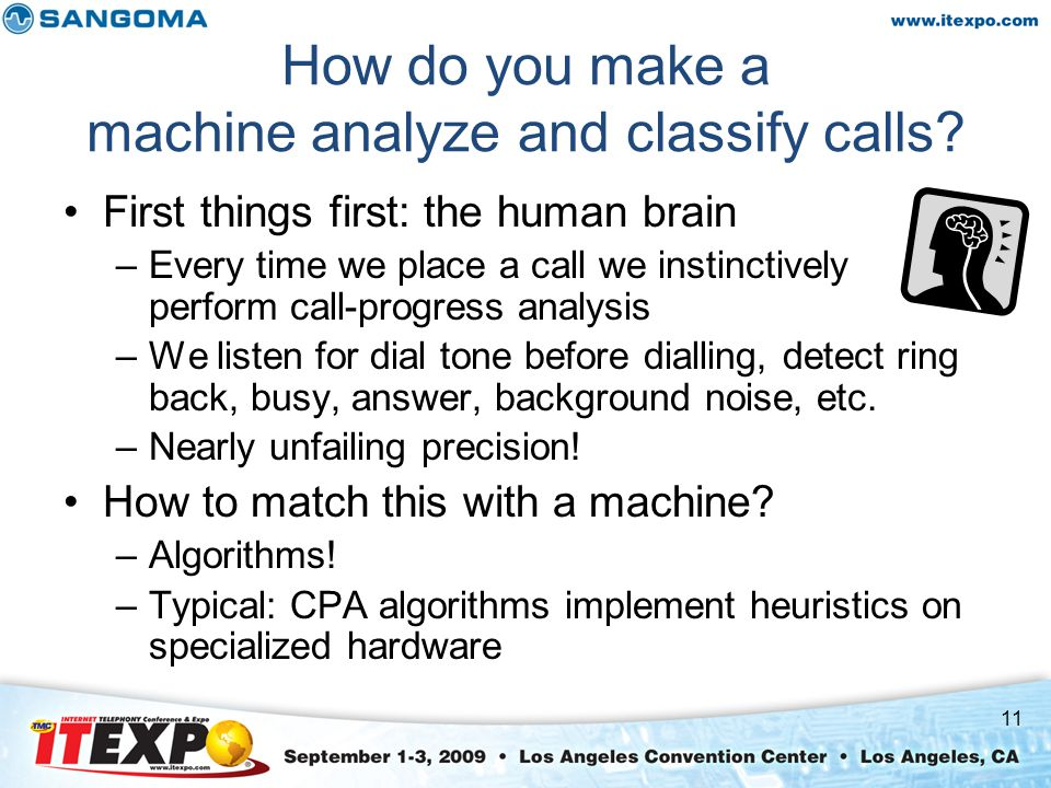 How do you make a machine analyze and classify calls.