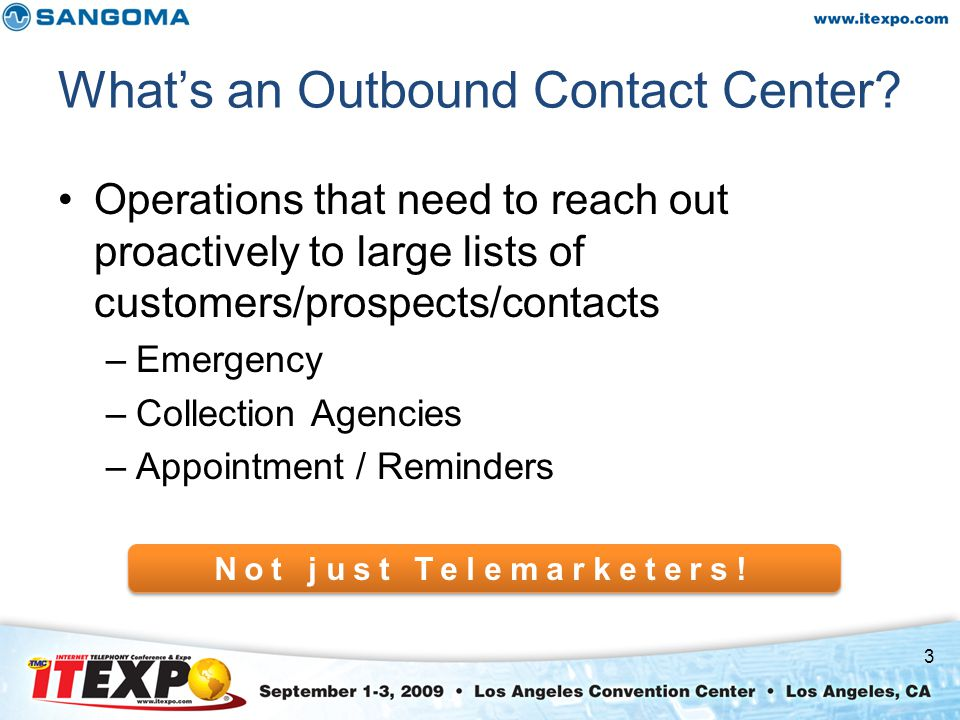 What's an Outbound Contact Center.