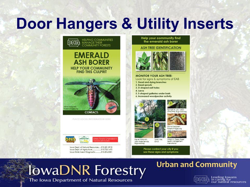 Urban and Community Door Hangers & Utility Inserts