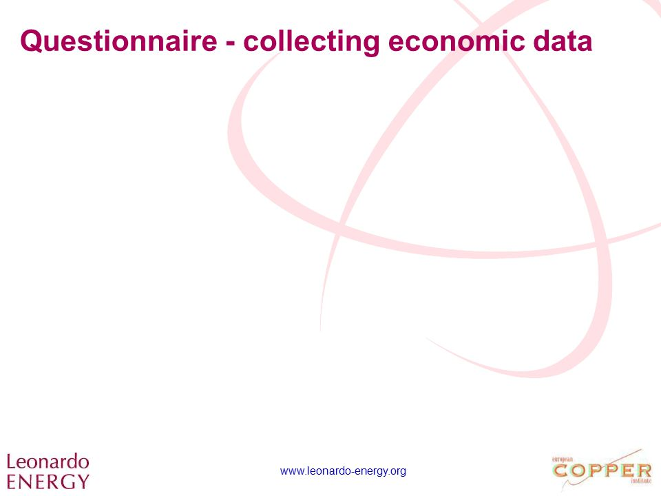 www.leonardo-energy.org Questionnaire - collecting economic data