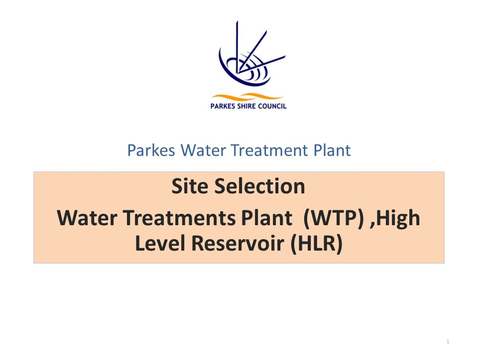 Site Selection / Options Assessments Project AspectRiskComments Option 1 (WTP) -The WTP location in Option 1 is flatter than Option 2, which is located on slight slope and is constrained/separated by a drainage line.