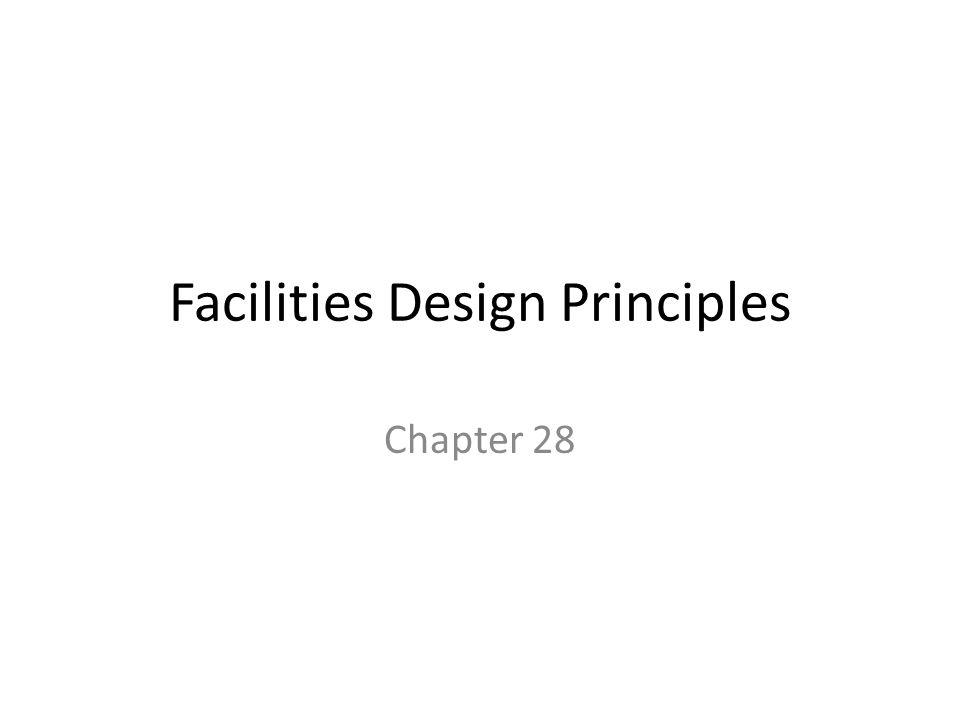 Facilities Design Principles Chapter 28