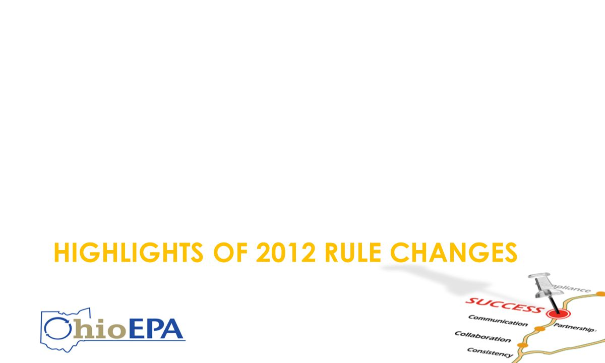HIGHLIGHTS OF 2012 RULE CHANGES