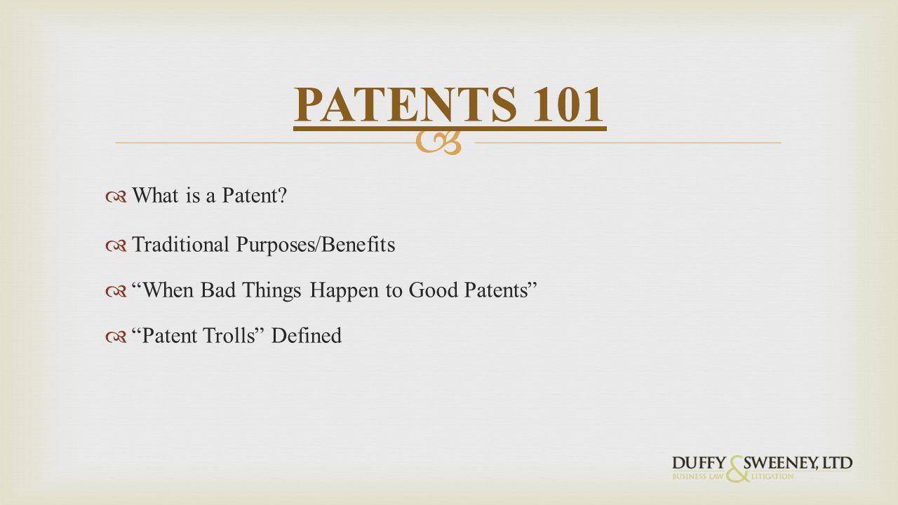  What is a Patent.