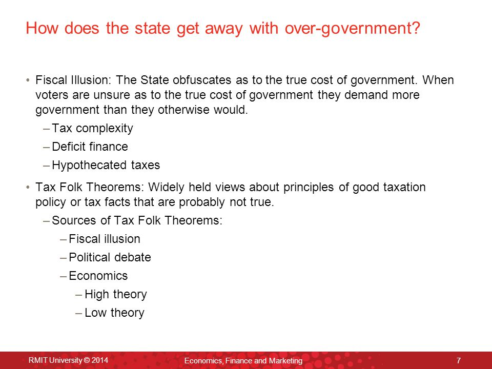 How does the state get away with over-government.