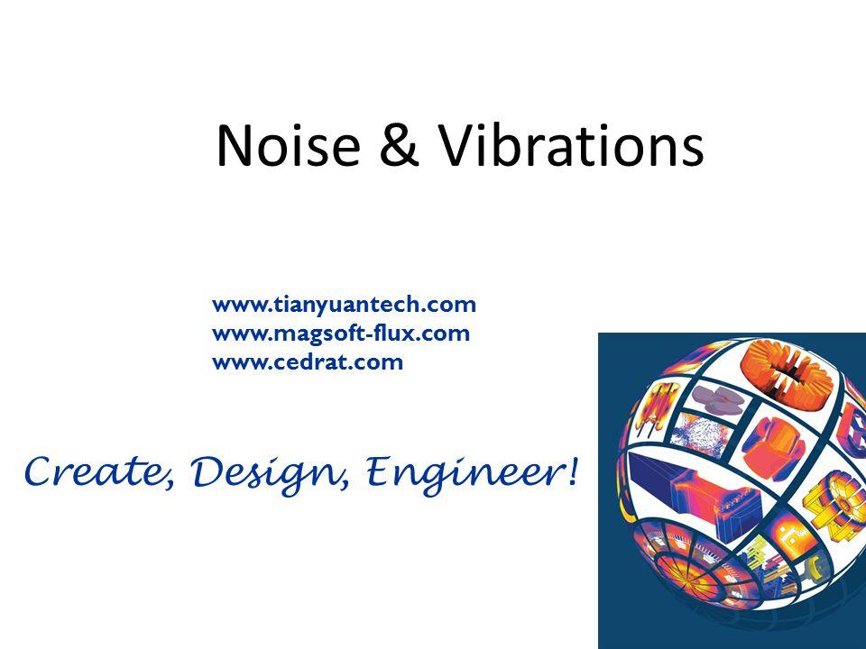 Create, Design, Engineer! Noise & Vibrations xxx www.tianyuantech.com www.magsoft-flux.com www.cedrat.com