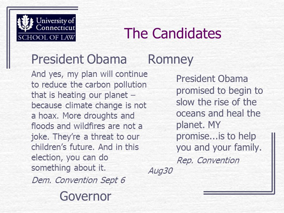 The Candidates President Obama And yes, my plan will continue to reduce the carbon pollution that is heating our planet – because climate change is not a hoax.