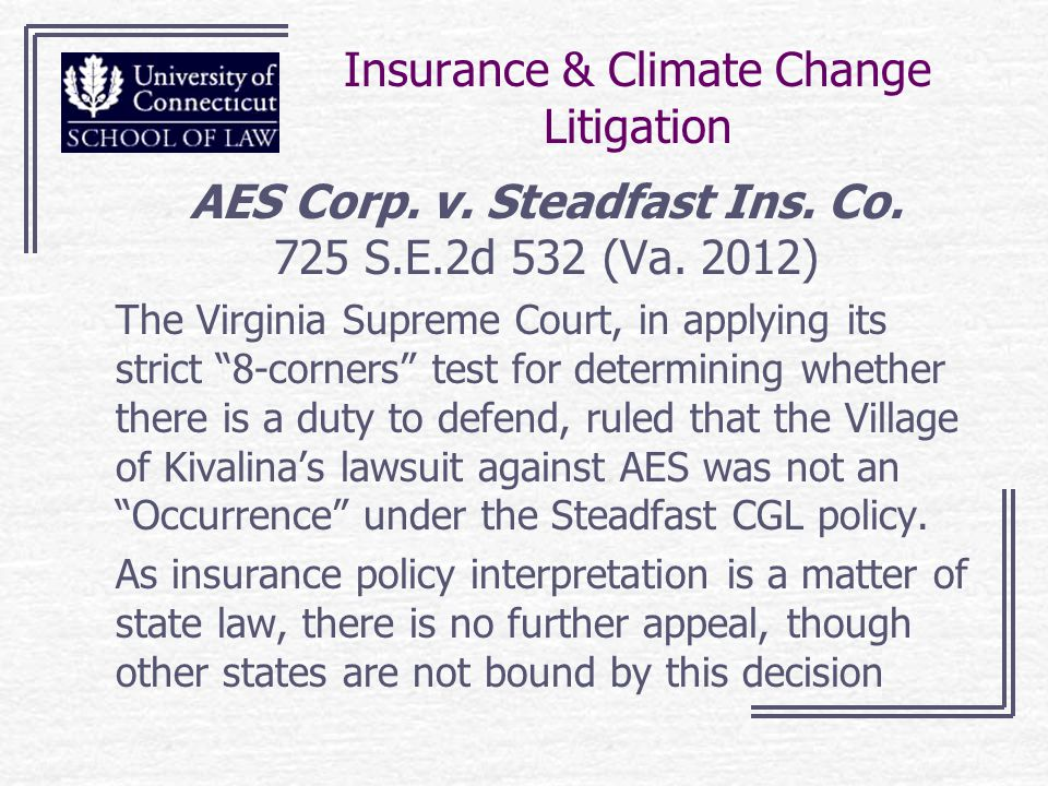 Insurance & Climate Change Litigation AES Corp. v.