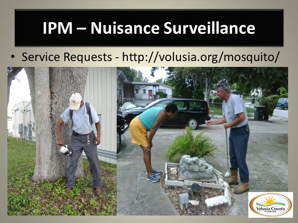 IPM – Nuisance Surveillance Service Requests - http://volusia.org/mosquito/