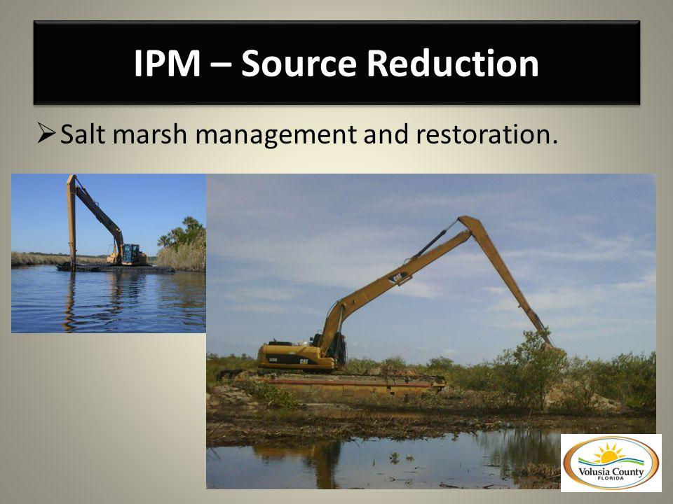 Salt marsh management and restoration.