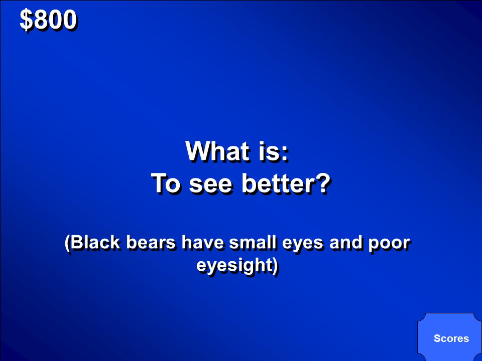 © Mark E. Damon - All Rights Reserved $800 The primary reason a black bear will stand on its hind legs when looking at an object